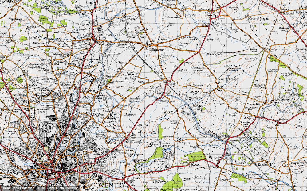 Old Map of Ansty, 1946 in 1946