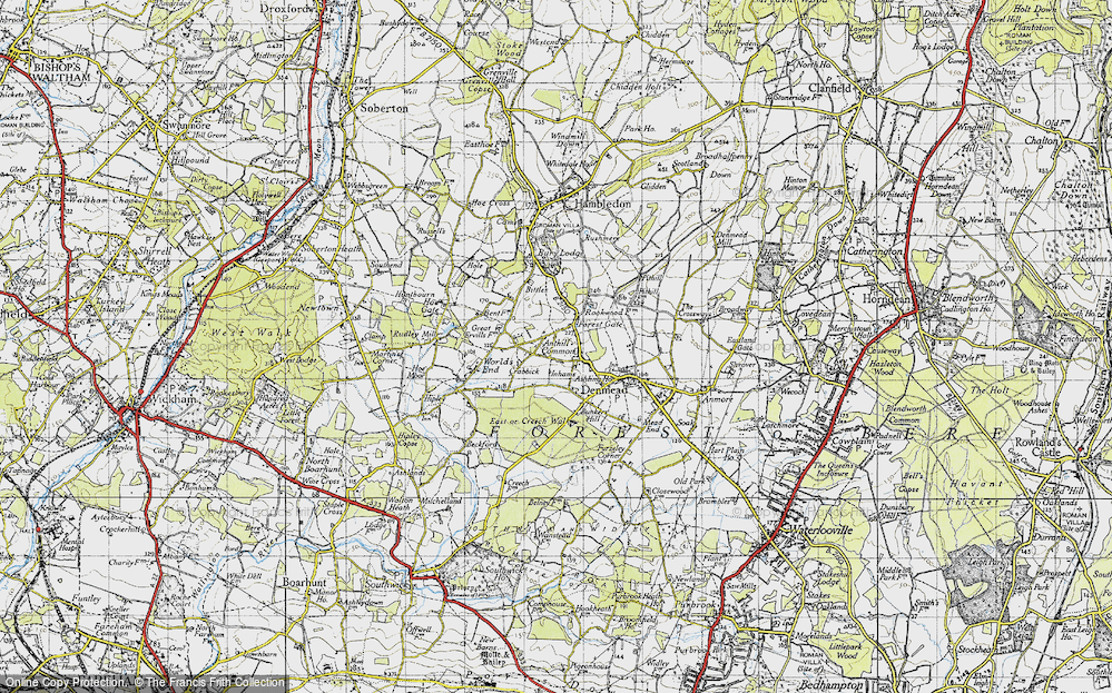 Old Map of Anthill Common, 1945 in 1945
