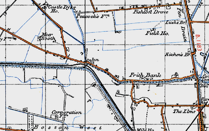 Old map of Anton's Gowt in 1946