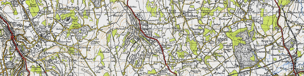 Old map of Aperfield in 1946