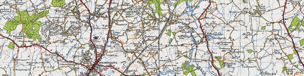Old map of Apes Dale in 1947