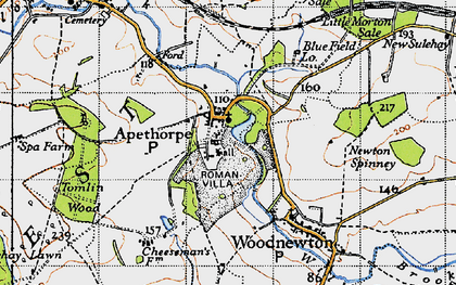 Old map of Tomlin Wood in 1946