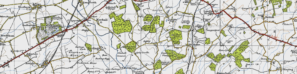 Old map of Apley in 1946