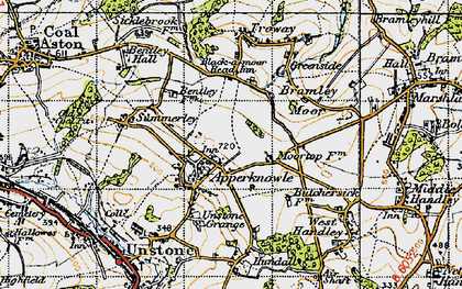 Old map of Apperknowle in 1947