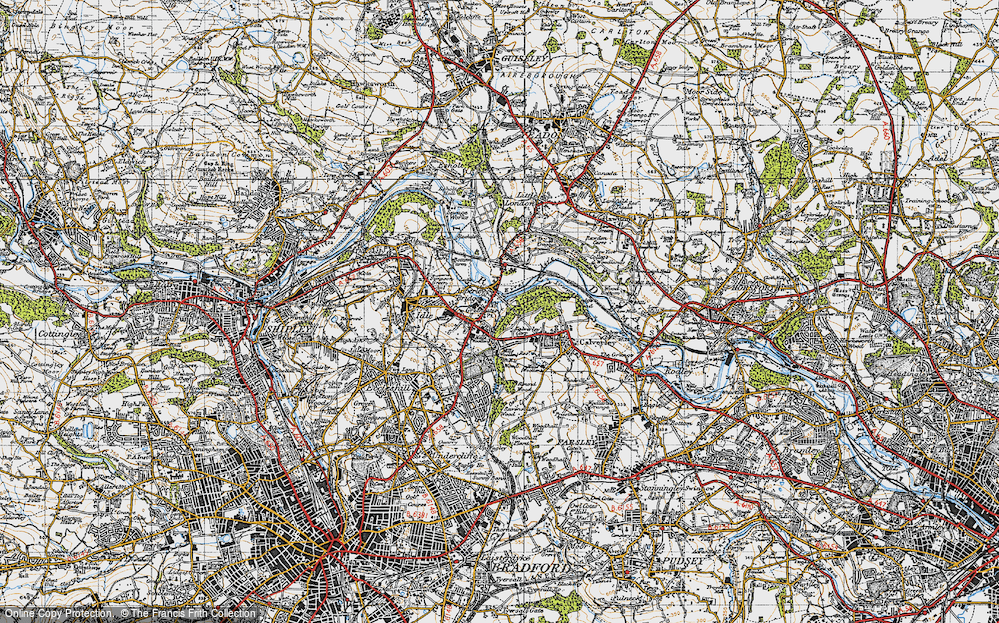 Old Map of Apperley Bridge, 1947 in 1947