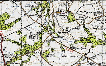 Old map of Wheelbirks in 1947