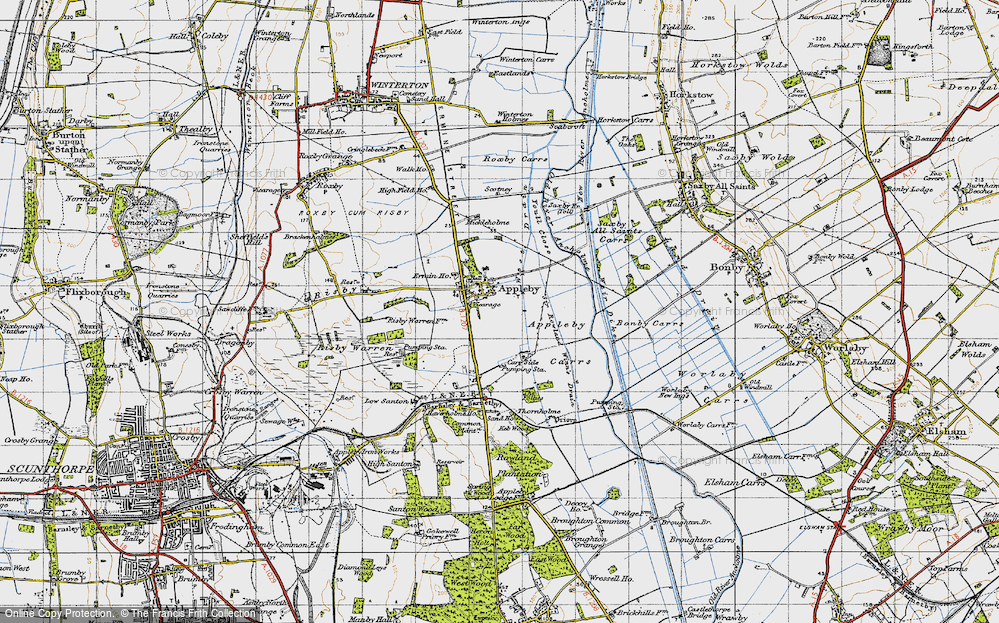 Old Map of Appleby, 1947 in 1947