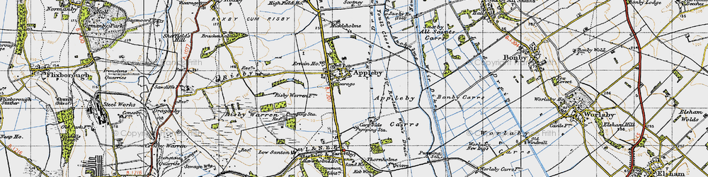 Old map of Appleby in 1947