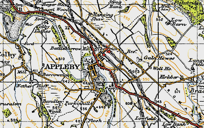 Old map of Bandley Wood in 1947
