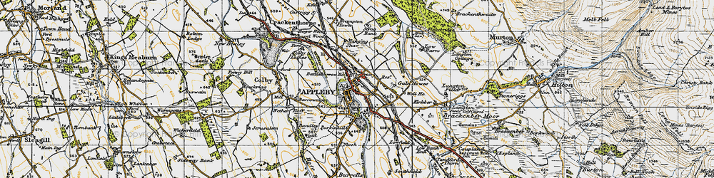Old map of Appleby-in-Westmorland in 1947