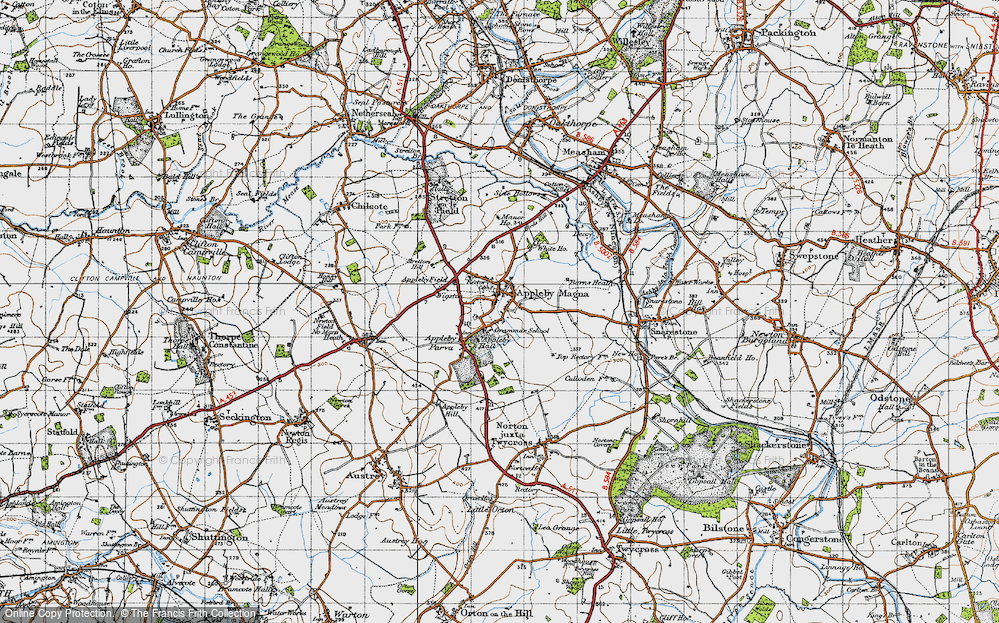 Old Map of Appleby Magna, 1946 in 1946