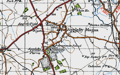 Old map of Appleby Magna in 1946