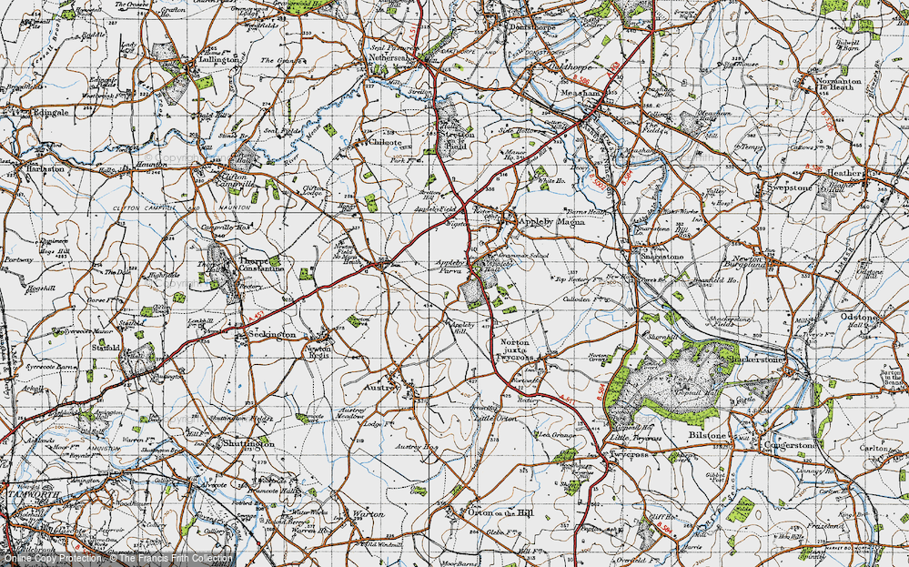 Old Map of Appleby Parva, 1946 in 1946