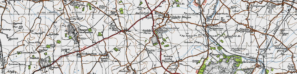 Old map of Appleby Parva in 1946