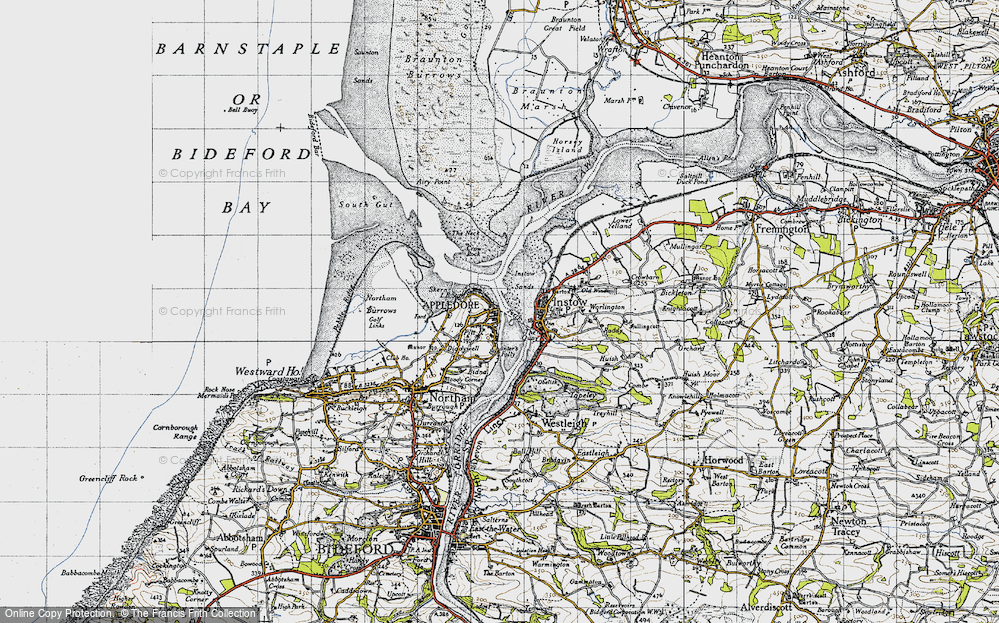 Old Map of Appledore, 1946 in 1946