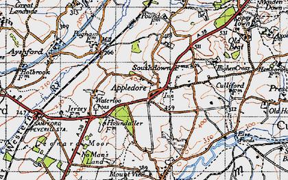 Old map of Leonard Moor in 1946