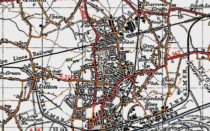 Old map of Appleton in 1947