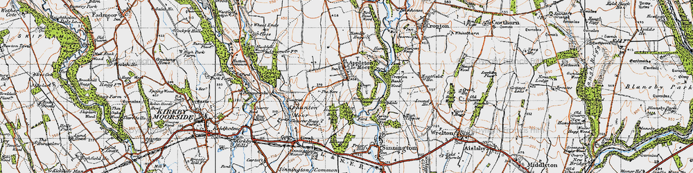 Old map of Appleton-le-Moors in 1947