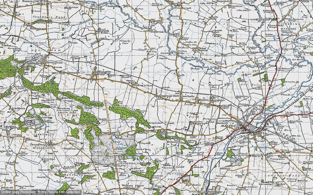 Old Map of Appleton-le-Street, 1947 in 1947