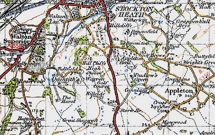 Old map of Appleton Resr in 1947
