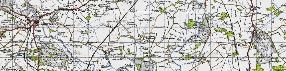 Old map of Appleton Roebuck in 1947