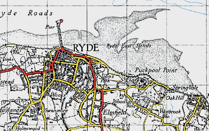 Old map of Appley in 1945
