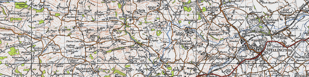 Old map of Appley in 1946
