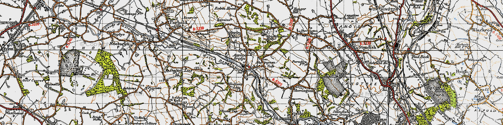 Old map of Appley Bridge in 1947