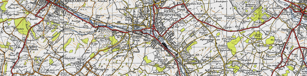 Old map of Apsley in 1946