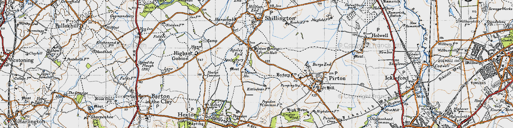 Old map of Apsley End in 1946