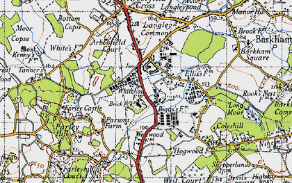 Old map of Arborfield Garrison in 1940