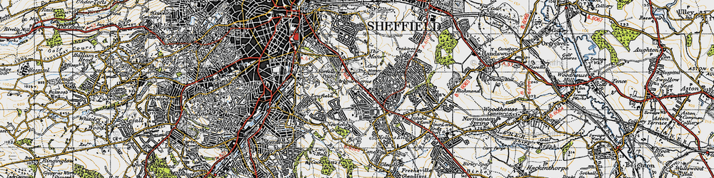 Old map of Arbourthorne in 1947