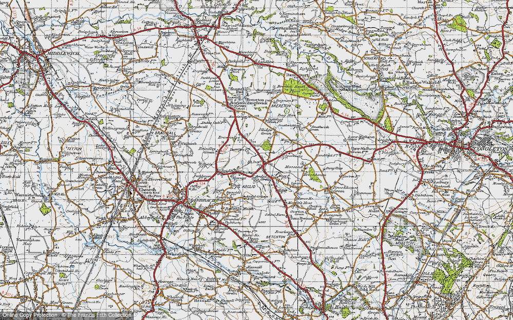 Old Map of Arclid, 1947 in 1947