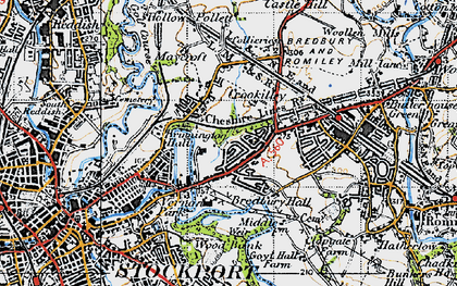 Old map of Arden Park in 1947