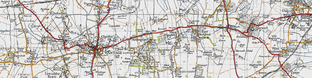 Old map of Ardington Ho in 1947