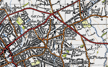 Old map of Ardleigh Green in 1946