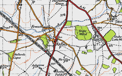Old map of Ardley in 1946