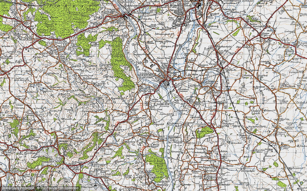 Old Map of Areley Kings, 1947 in 1947