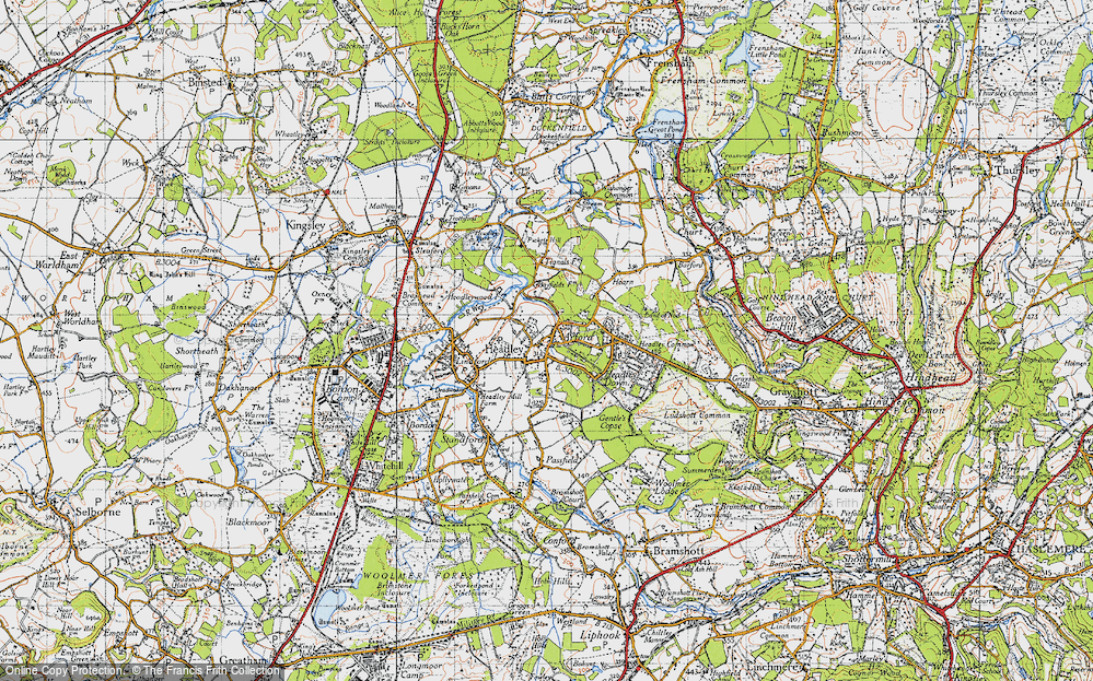 Old Map of Historic Map covering Tignals in 1940