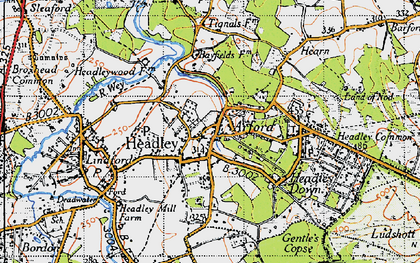 Old map of Tignals in 1940
