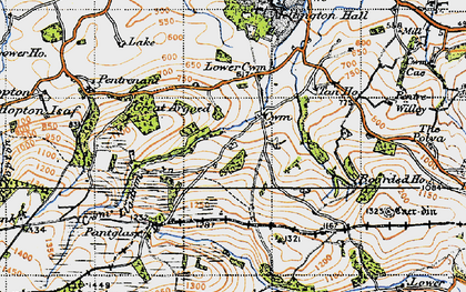 Old map of Argoed in 1947
