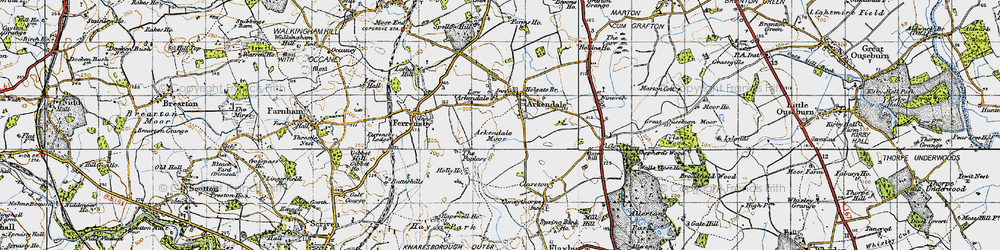 Old map of Arkendale in 1947