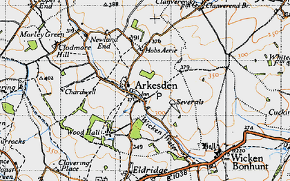 Old map of Arkesden in 1946