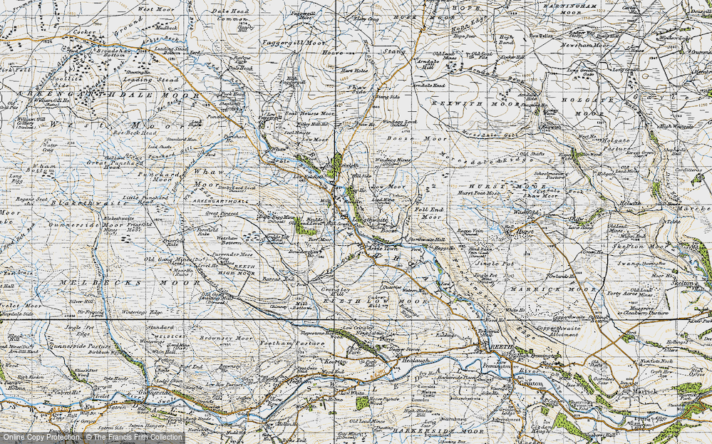 Old Map of Arkle Town, 1947 in 1947
