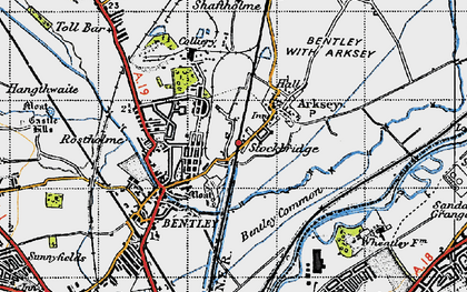Old map of Arksey in 1947