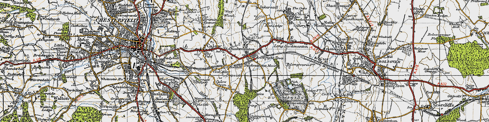 Old map of Arkwright Town in 1947