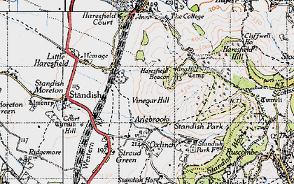 Old map of Arlebrook in 1946