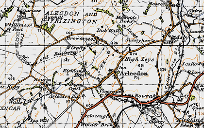 Old map of Arlecdon in 1947