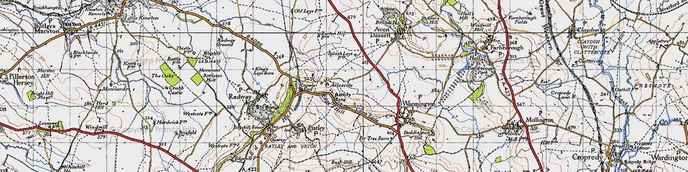 Old map of Arlescote in 1946