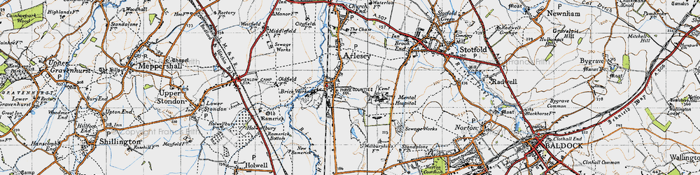 Old map of Arlesey in 1946